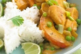 Pollo al curry para niños