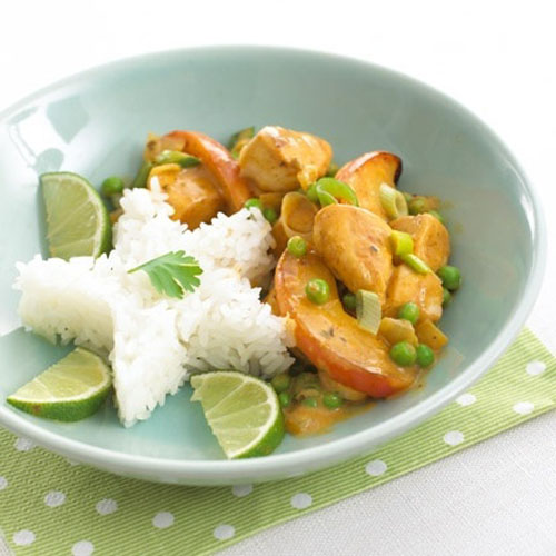 pollo al curry con arroz