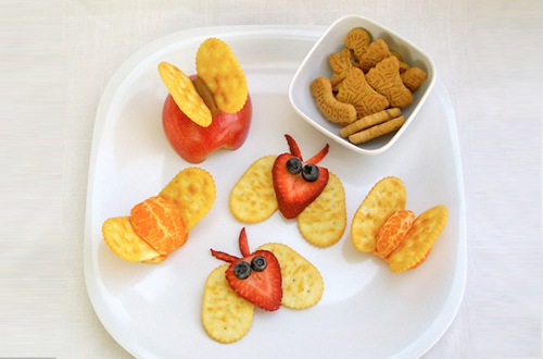 mariposas de frutas para niños