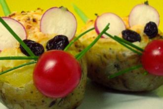 Patatas asadas para niños