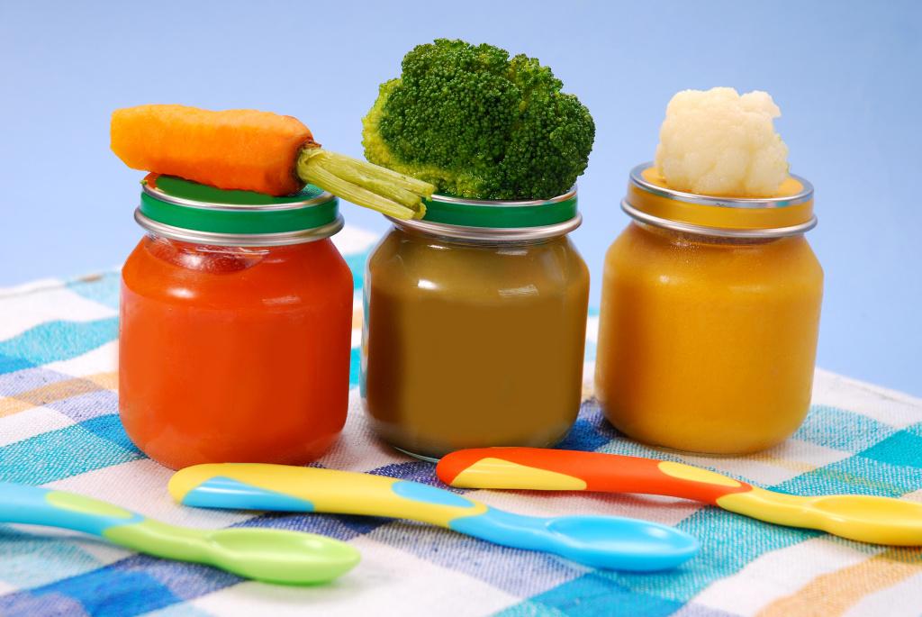 Papillas de verduras para bebés
