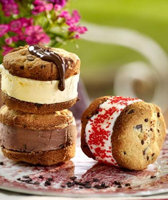 Receta de helado con galleta