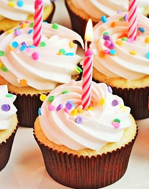 cupcake para soplar las velas