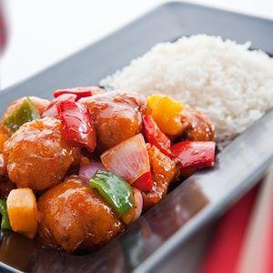 Receta de arroz con verduras y salsa agridulce