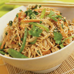 Receta de tallarines con verduras y ajanjoli
