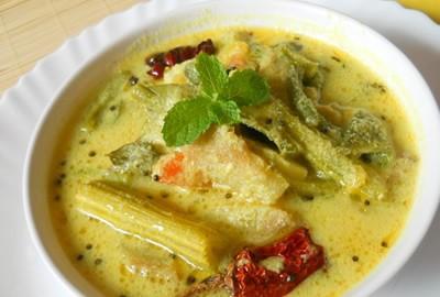 Receta india de verduras con leche de coco
