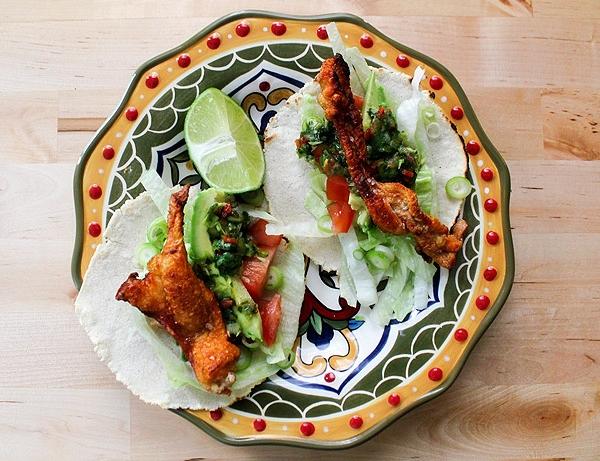 Receta mexicana de tacos de chicharrones