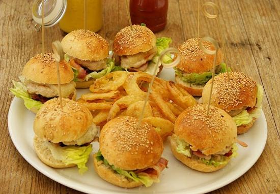 Recetas de hamburguesas de pollo
