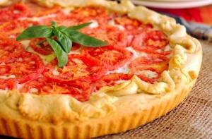 Tarta de ricota y tomates