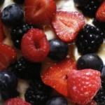 receta de yogur helado con fruta