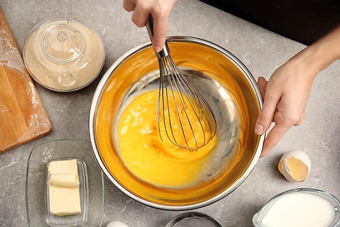 que cocinar con huevo batido