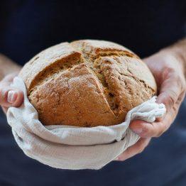 receta pan de hogaza casero sin amsado