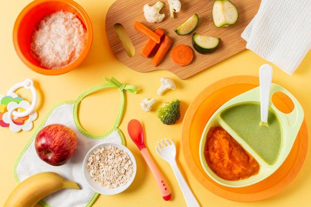 Los utensilios básicos para alimentar al bebé